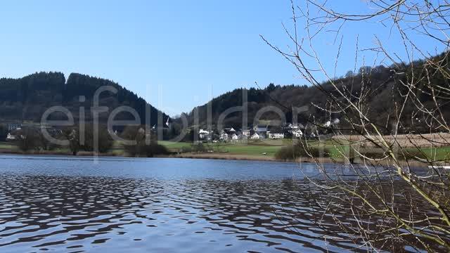 Natur Clip Frühling am Meerfelder Maar  00:24 | Video Sequenz, aufgenommen am Meerfelder Maar in der Eifel (Vulkaneifel). Die Weidenkätzchen im Vordergrund läuten als erste Frühlingsboten das Frühjahr ein.